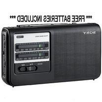 Sony ICF-38 Portable AM/FM 2 Band Radio with Free AA