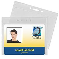 C-Line ID Badge Holders, Poly, Horizontal, 4 x 3 Inches, 50-