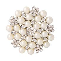 Valdler Fashion Jewelry Imitation Pearls Floral Ivory and
