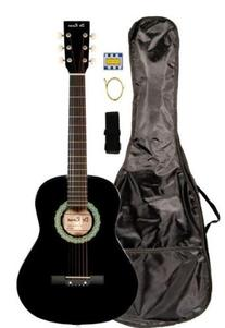 "36"" Inch 3/4 Scale Size Student Beginner Black Acoustic"