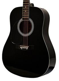 "41"" Inch Full Size Black Handcrafted Steel String"