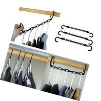 Household Mall Pack of 10 Pcs 15 inch Black Magic Hangers