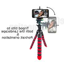 """Acuvar 12"""" Inch Flexible Camera Tripod with Wrapable Disc"""