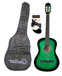 "38"" GREEN Acoustic Guitar Starter Package, Guitar, Gig Bag,"