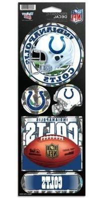 Indianapolis Colts 5 Pack of Stickers - Holographic Cracked