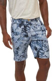 Men's Robert Graham Indonesia Chino Shorts, Size 40 - Blue