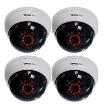 Masione 4 Pack Indoor CCTV Fake Dummy Dome Security Camera
