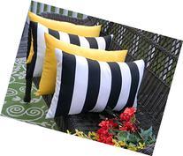 Set of 4 Indoor / Outdoor Decorative Lumbar / Rectangle