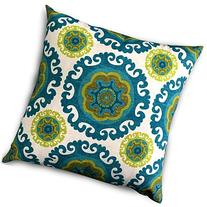 Decorative Square 18 x 18 Inch Throw Pillows Floral Green