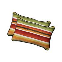 Pillow Perfect Outdoor/ Indoor Dina Noir Rectangular Throw