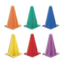 Champion Sports Indoor/Outdoor Flexible Cone Set, Vinyl,