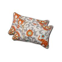 Pillow Perfect Outdoor/Indoor Menagerie Cayenne Rectangular