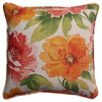 Pillow Perfect Outdoor/ Indoor Primro Orange 18.5-Inch Throw
