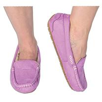 4813145ecae Snoozies Womens Indoor Outdoor Suede Ultra Soft Lined