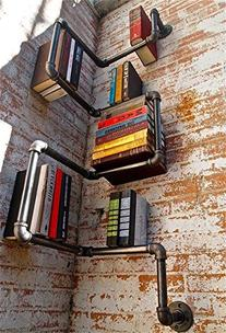 Industrial Urban Style Galvanized Steel Pipe Shelf Shelving