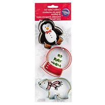 Wilton 2308-5070 3-Piece Christmas Polar Metal Cookie Cutter