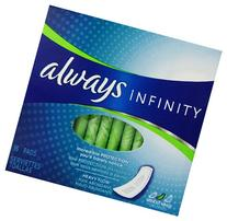 Always Infinity Heavy Flow Without Wings 16 ct