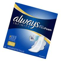 Always Infinity Pads Regular with Flexi-Wings, 50 ea