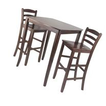 Winsome Inglewood 3 Piece Square Pub Dining Set in Antique