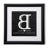 Personal Creations Initial Wedding Print - Black