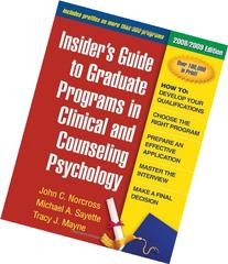 Insider's Guide to Graduate Programs in Clinical and