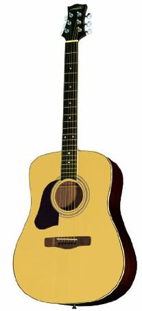 Silvertone Inspire SD2000 N Acoustic Guitar, Natural