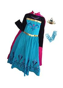 Inspired Elsa Coronation Dress, Tiara and Gloves Set
