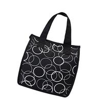 Artecobags Insulated Lunch Bag - Black with White Circles