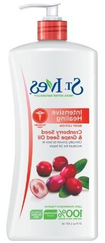 St. Ives Intensive Healing Body Lotion, cranberry seed &