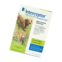Interceptor For Dogs 11-25 lbs  12 Chews