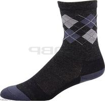 DeFeet International Wooleator 5-Inch Argyle Sock, Grey,