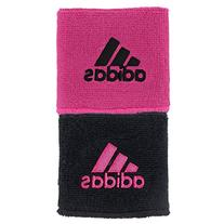 Interval Reversible Wristband, Black/Intense Pink, One Size