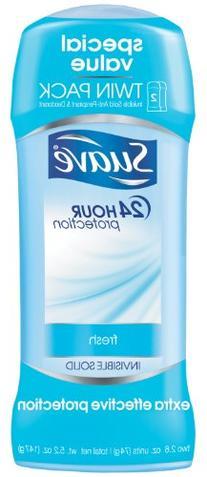 Suave Antiperspirant Deodorant, Shower Fresh 2.6 oz, Twin