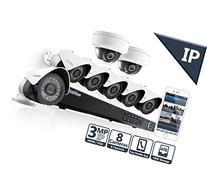 LaView 3MP IP 8 Camera Security System, 8 Channel IP PoE NVR