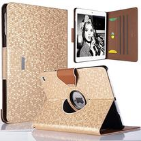 iPad Air Case,ULAK 360 Degrees Rotating Stand Case Bling