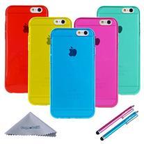 iPhone 6 Case Clear, iPhone 6s Case, Wisdompro Bundle of 5