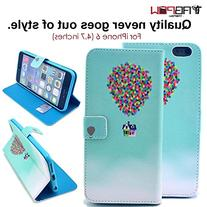 iPhone 6 Case, iPhone 6s Case, TabPow  Balloon and House PU