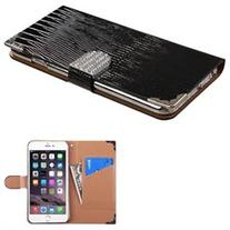 Apple iPhone 6 Plus/6s Plus Case, Insten Crocodile Skin Leather  Wallet Flap Pouch Case Cover With Diamond Compatible Apple iPhone 6 Plus/6s Plus,