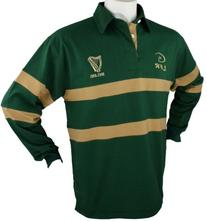 Men's Irish Harp Rugby Shirt, Large, Green