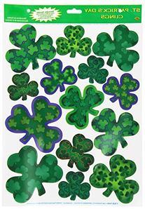 Irish-Mood Shamrock Clings Party Accessory