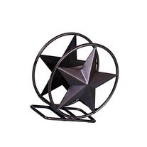 IRON COASTER HOLDER STAR SYMBOL-5.5 INCHES HIGH X 5 INCHES