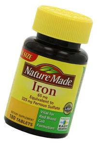 Nature Made Iron 65 mg Tablets 180 ea