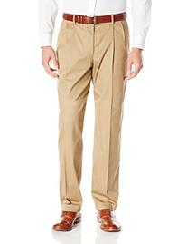 Dockers Men's Iron Free Khaki D4 Relaxed Fit Pleated Pant,