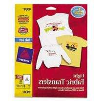 "Avery Iron-On T-Shirt Transfers, 18 Transfers, 8-1/2""x11"