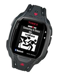 Timex Men's TW5K84500 Ironman Run x50+ Black/Red Resin Strap