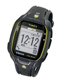 Timex Men's TW5K84500 Ironman Run x50+ Charcoal/Lime Resin