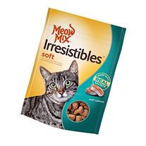 Meow Mix Irresistibles Soft Cat Treats with Real Salmon , 3