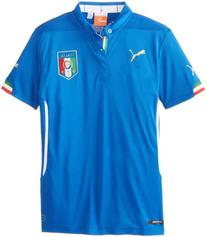 Puma Boy's Italia Home Replica Soccer Jersey, Team Power