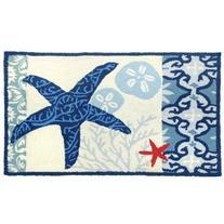 Homefires Accents Italian Tile with Starfish Indoor Rug, 22-