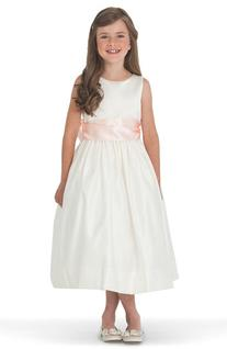 Girl's Us Angels Ivory Satin Tank Dress